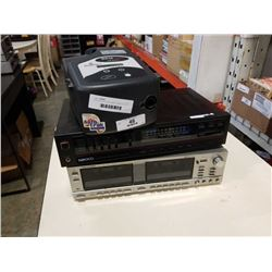 REALISTIC SCT-28 STEREO CASSETTE DECK, NIKKO INTEGRATED AMP AND BIPAP PRO MACHINE