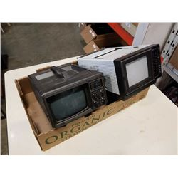 VINTAGE BENTLEY AND PULSER PORTABLE TVS