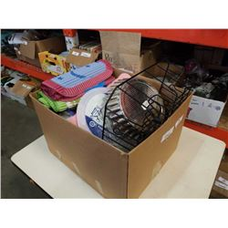 BOX OF DISH DRYING RACK, GRIP LINERS AND MORE