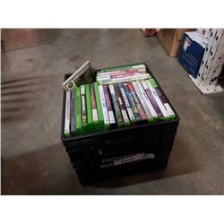 CRATE OF XBOX 360 AND OTHER VIDEOGAMES