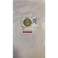 1958 CANADIAN SILVER DOLLAR BC CENTENNIAL  .800 SILVER