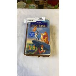ANTIQUE BIBLE AND SEALED LION KING MOVIE CASSETTE