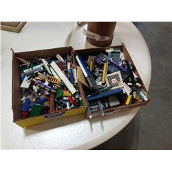 2 TRAYS OF LEGO