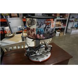 HARLEY DAVIDSON TABLE LAMP WITH SOUND - WORKING