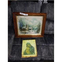 FRAMED PAINTING AND OTHER CANVAS