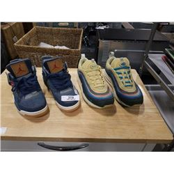 2 PAIRS OF NIKE SHOES SIZE 8.5 LEVI AIR JORDAN AND 9