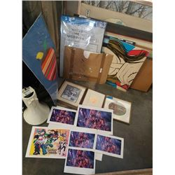 LOT OF PRINTS, ART AND PAPER - AVENGERS PRINTS