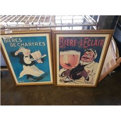 2 FRENCH BEER PRINTS