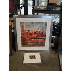 SIGNED KEN DANBY AND LARGE SKYLINE PRINT