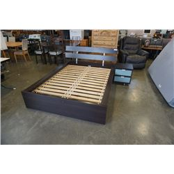 MODERN DOUBLE SIZE BEDFRAME WITH NIGHTSTAND AND PILLOWTOP MATTRESS