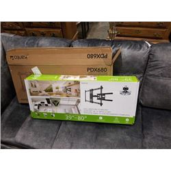 NEW OVERSTOCK KANTO PDX680 39-80 INCH FULL MOTION TV WALL MOUNT RETAIL $189.99