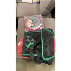 SOFT PET KENNEL, CAT TUNNEL, AND FOLDING HAMPER