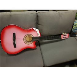 RED ACCOUSTIC GUITAR