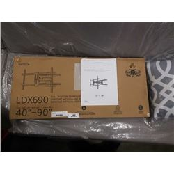 NEW OVERSTOCK KANTO LDX690 FULL MOTION TV WALL MOUNT 40-90 INCHES RETAIL $174.99
