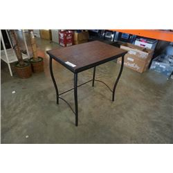 Metal and wood designer end table