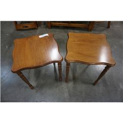 2 SMALL MAPLE ENDTABLES