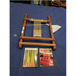 WEAVING LOOM AND BOOKS