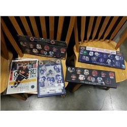 TORONTO MAPLE LEAFS PLAQUE SIGNED BY WENDLE CLARK WITH BLACKHAWKS PLAQUES AND 8X10 SIGNED CLIFF RONN