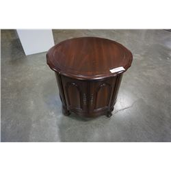 ROUND DIELCRAFT FRENCH PROVINCIAL ENDTABLE