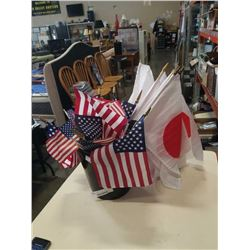 AMERCAN AND JAPANESE FLAGS