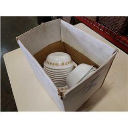 BOX OF CORELLE CORNING WARE