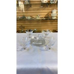CRYSTAL GLASSES, PLATES AND BOWL
