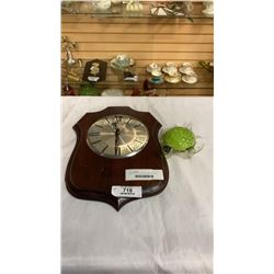 BULOVA CLOCK AND ART GLASS TURTLE