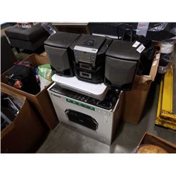 CANON AND HP PRINTERS, AND JBC BOOMBOX