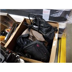 LARGE LOT OF ASSORTED BAGS, LAPTOP CASES, ETC