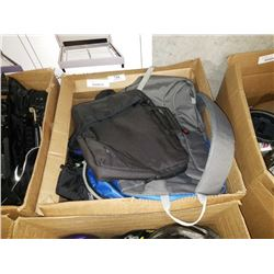 BOX OF BACKPACKS AND BAGS