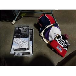 LOT OF SPORTS AND OTHER HATS