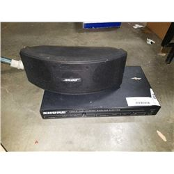 BOSE SPEAKERS AND SHURE DUAL CHANNEL WIRELESS RECEIVER
