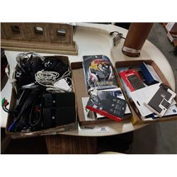 2 TRAYS OF PHONE CASES AND ELECTRONICS