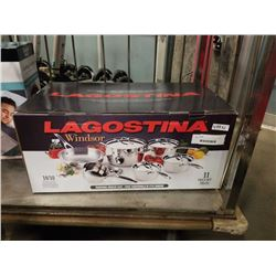 BRAND NEW LAGOSTINA STAINLESS STEEL 11 PIECE SET - RETAIL $399