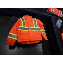 NEW 3 IN 1 HIGH VIS WINTER JACKET SIZE MENS SMALL, FITS BIG