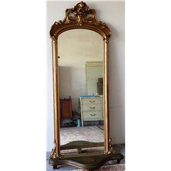 Collectible - Antique Gold Gilt Full Length Mirror