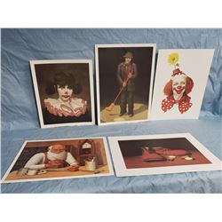 Collectible - Art - Jim Howle Clown Lithographs
