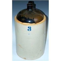 Collectible - Stoneware - 3 Gallon Blue Crown Stoneware Jug