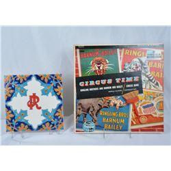 Collectible - John Ringling Commemorative Tile & A LP Record
