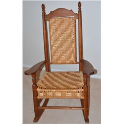 Collectible - Appalachian Fireside Gallery Cane back and seat large rocking chair