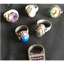 Collectible - Jewelry - 6 Sterling Silver Rings