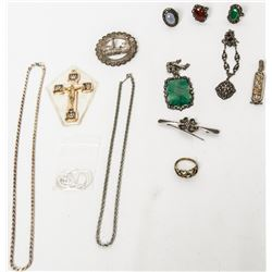 Collectible - Jewelry - 12 pc Sterling Silver Jewelry Lot
