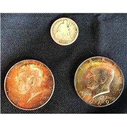 Collectible - Coins - 3 pc US Silver Coins