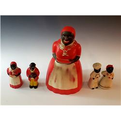 Collectible - Aunt Jemima Cookie Jar and Salt and Pepper Shakers