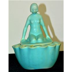 Collectible - Glazed Art Deco Nude Woman Ashtry