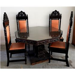 Collectible - Furniture - Spanish Style Octagon Table and Chairs
