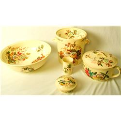 Collectible - 9pc Furnival 1864 - 1871, Unknown Pattern, Pottery