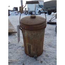 Cream Can & 2 Wood Handled Pails