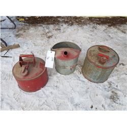 Lot 3 Gas Cans