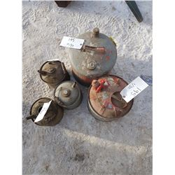 Lot 5 Gas Cans